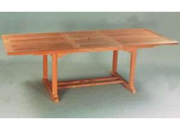 Anderson Teak Valencia 117-inch Rectangular Table with Double Extensions