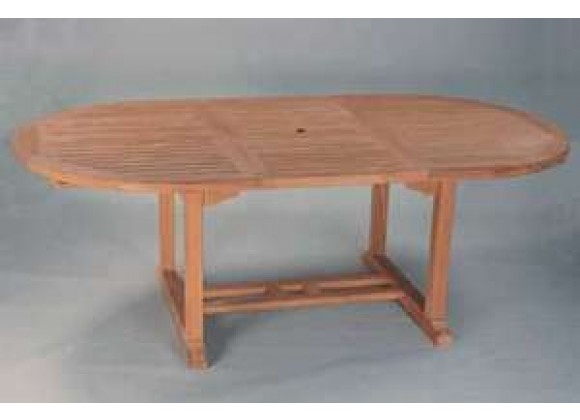Anderson Teak Bahama 117-inch Oval Extension Table w/ Double Extensions