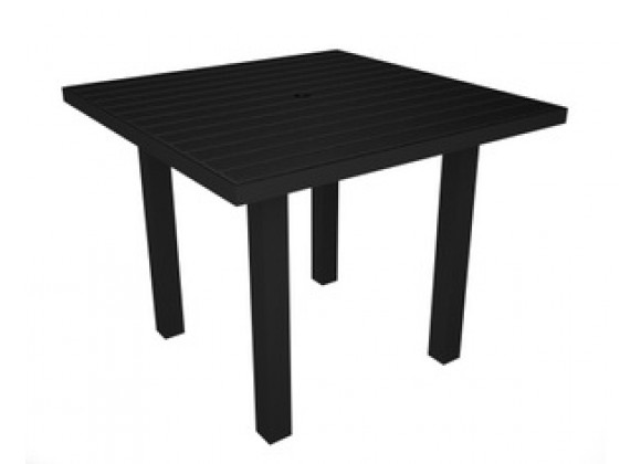 Poly-Wood Euro Dining Table Black