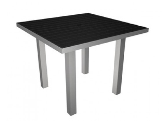 Poly-Wood Euro Dining Table Silver