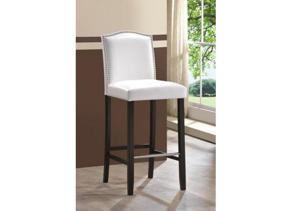 Baxton Studio Libra Modern Barstool w/ Nailhead Trim - Set of 2