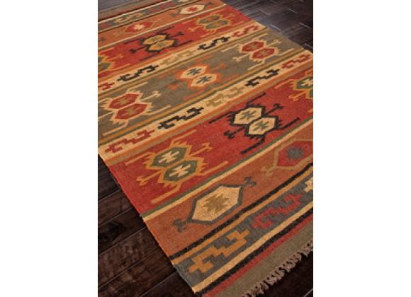 Jaipur Bedouin Thebes Flat-Weave Deep Rust Rug