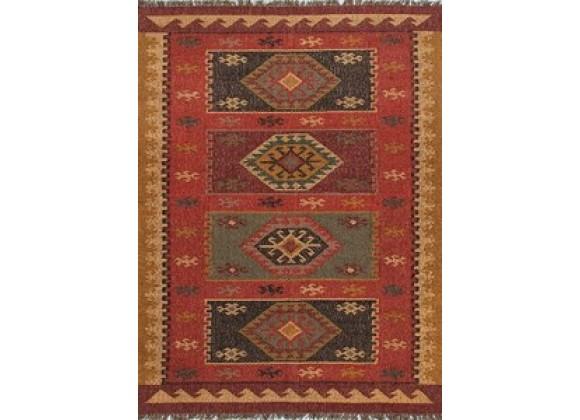Jaipur Bedouin Amman Flat-Weave Red Rug