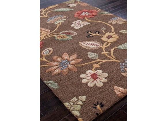 Jaipur Blue Garden Party Hand-Tufted Cocoa Brown Rug