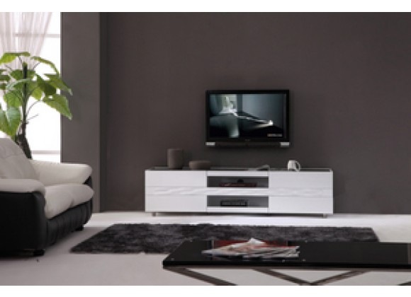 Publisher  TV Stand - White - Front