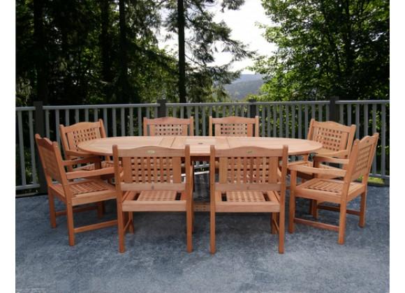 International Home Miami Amazonia Milano Grand Extendable Table Set Porto