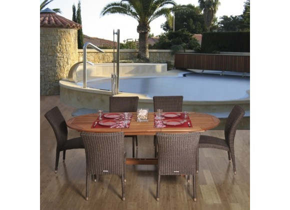 International Home Miami Amazonia Le Mans 7-pc Dining Set