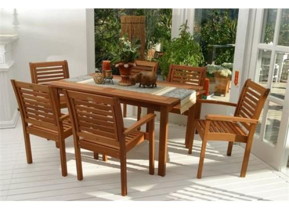 International Home Miami Amazonia Milano Rectangular 7 Piece Set