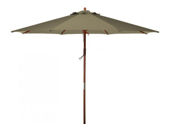 Bond Manufacturing 9ft Market Polyester Umbrella - Natural