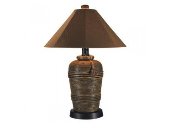 "Patio Concepts Canyon 34.5 "" Outdoor Table Lamp with Nutmeg Sunbrella Shade"