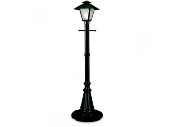"Patio Concepts Cape Cod 82"" Black/White -  Single Coach Lantern Patio Lamp"