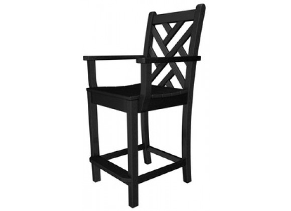 Poly-Wood Chippendale Counter Arm Chair