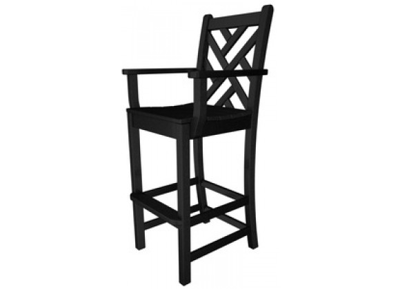 Poly-Wood Chippendale Bar Arm Chair