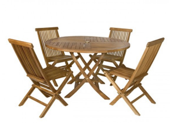 All Things Cedar 5 Piece Teak Dining Set