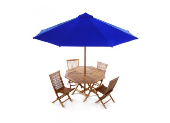 All Things Cedar 6 Piece Folding Table Set