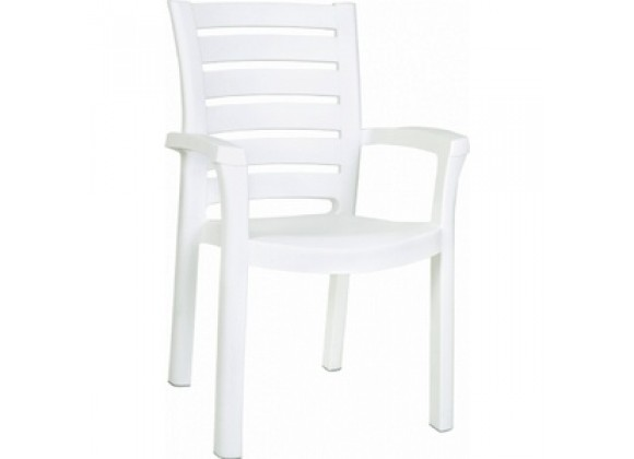 Compamia Marina Resin Dining Arm Chair White - Set of 4