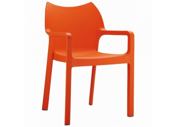 Compamia Diva Resin Outdoor Dining Arm Chair Orange - Set of 2