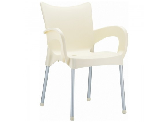 Compamia Romeo Resin Dining Arm Chair Beige - Set of 4