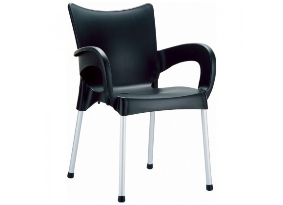 Compamia Romeo Resin Dining Arm Chair Black - Set of 4
