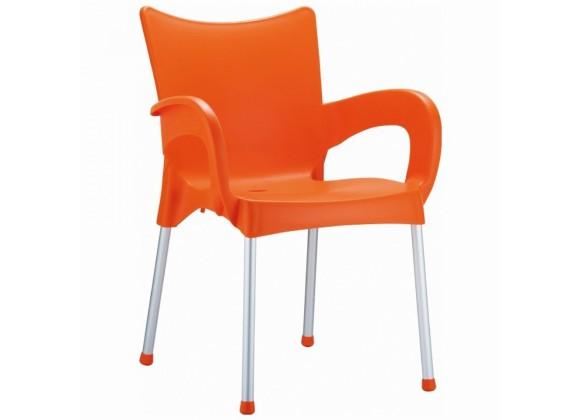 Compamia Romeo Resin Dining Arm Chair Orange - Set of 4