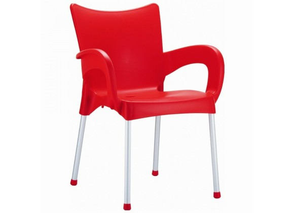 Compamia Romeo Resin Dining Arm Chair Red - Set of 4