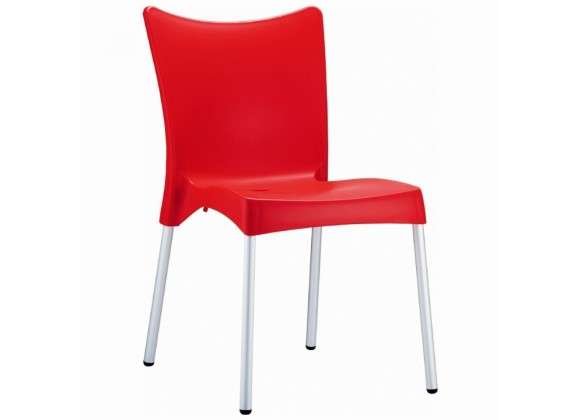 Compamia Juliette Resin Dining Chair Red - Set of 2