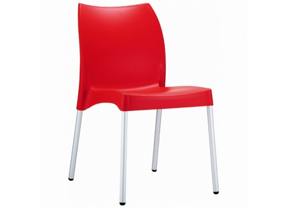 Compamia Vita Resin Outdoor Dining Chair Red - Set of 2