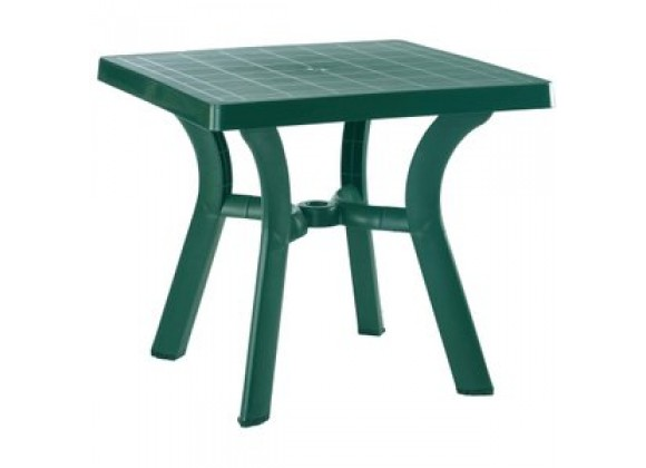 Viva Resin Square Dining Table 31 inch Green