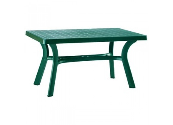 Sunrise Resin Rectangle Table 55 inch Green