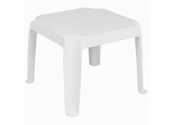 Sunray Resin Square Side Table White