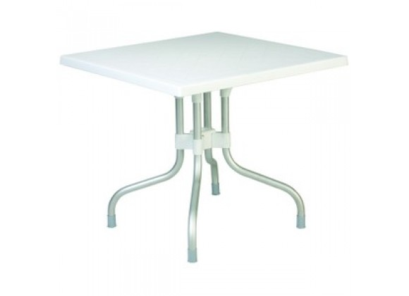 Compamia Forza Square Folding Table 31 inch White