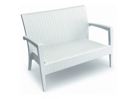 Compamia Miami Resin Loveseat White