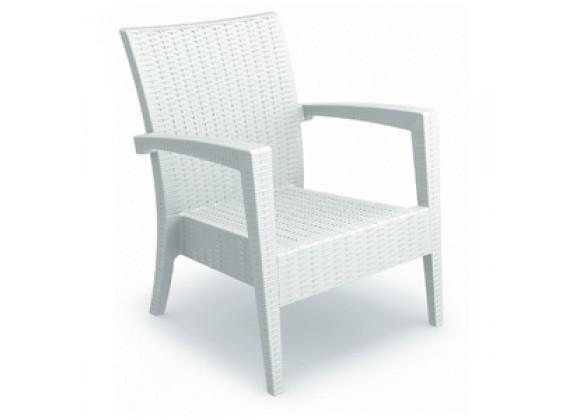 Compamia Miami Resin Club Chair White - Set of 2