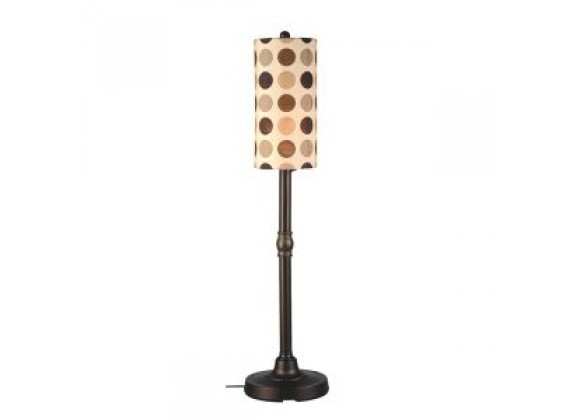 "Patio Concepts Coronado 58""/70"" Floor Lamp with 2""/3"" Bronze Body and Mojito Coffee Bean Sunbrella Shade Fabric"