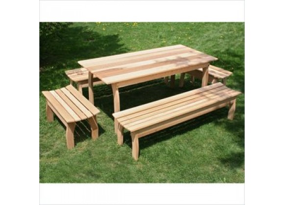 Creekvine Designs 46 x 32 Cedar Family Dining Set