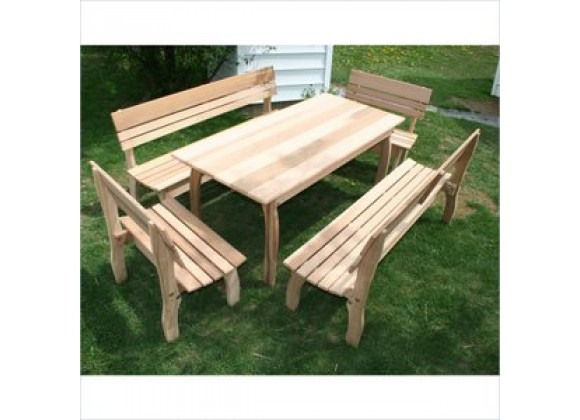 Creekvine Designs 46 x 32 Cedar Chickadee Dining Set