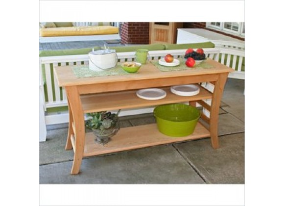 Creekvine Designs 58-Inch Cedar Entertaining Buffet Table
