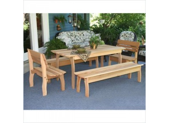 Creekvine Designs 58 x 32 Cedar Gathering Dining Set