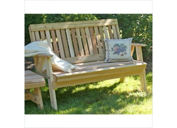 Creekvine Designs 2-Inch Cedar Countryside Garden Bench