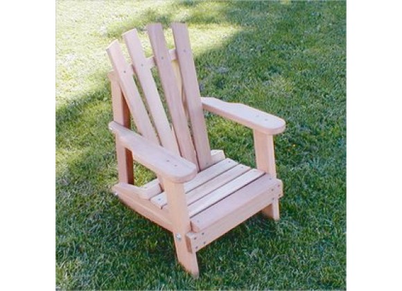 Creekvine Designs Cedar Child Size Wide Slat Adirondack Chair