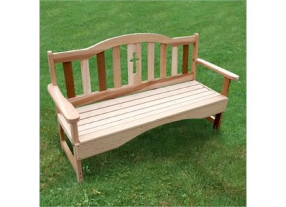 Creekvine Designs 4-Ft Cedar Holy Cross Garden Bench