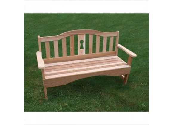 Creekvine Designs 4-Inch Cedar Keyway Garden Bench