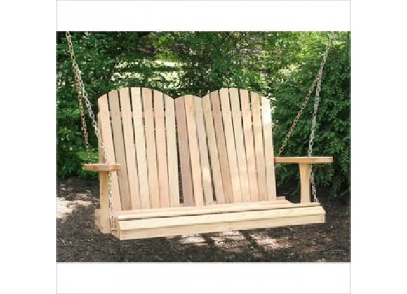 Creekvine Designs Cedar Adirondack Chair Style Porch Swing