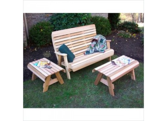 Creekvine Designs Cedar Twin Ponds Bench Set