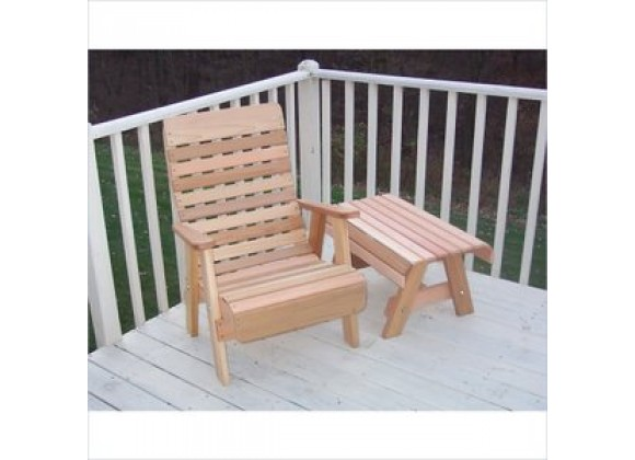Creekvine Designs Cedar Twin Ponds Chair and Table Set