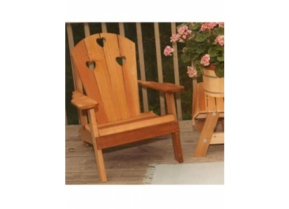 Creekvine Designs Cedar Country Hearts Adirondack Chair