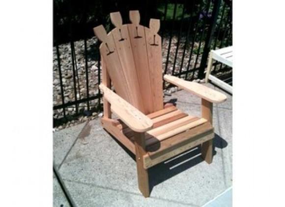 Creekvine Designs Cedar Wine Glass Adirondack Chair
