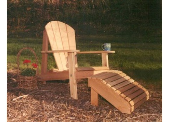 Creekvine Designs Cedar Adirondack Chair and Footrest Set