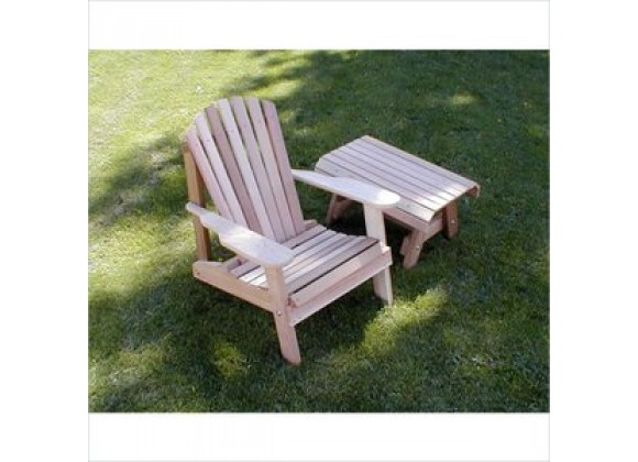 Creekvine Designs Cedar American Forest Adirondack Chair and Table Set