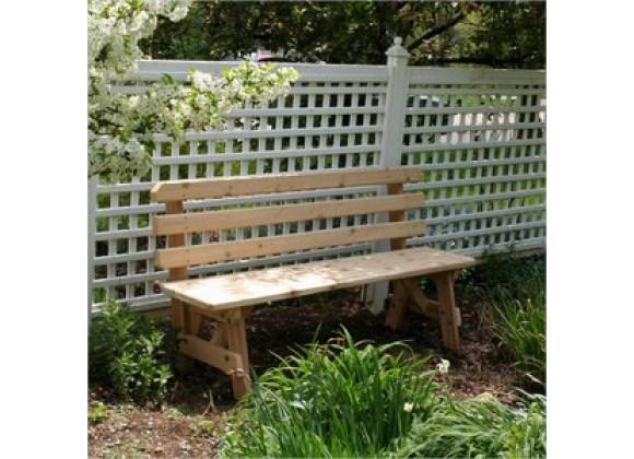 Creekvine Designs Cedar 6-Ft Backed Bench
